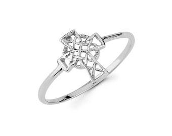 14k Celtic Cross, Gold Celtic Cross, Celtic Cross, Irish Jewelry, Irish Cross, 14k Irish Cross, dainty jewelry, Cross Jewelry, Cross Ring