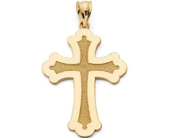 14K Solid Gold Cross Pendant, 14K Solid Gold, Cross Pendant, Cross, Religious, Religion, Cross Design
