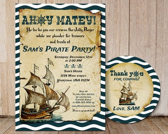 Adult pirate party invitation wording quotes stopboris Image collections