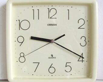 1980s Citizen Vintage Clock