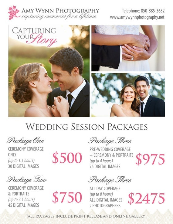 Wedding photography package pricing by studiotwentynine on for Wedding packages near me