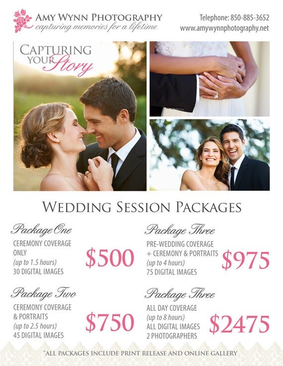 Wedding Rates Photography