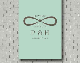 Wedding Guest Book - Infinity Guest Book - Unique Guest book - Wedding Poster - Guestbook - Wedding Gift - Wedding Monogram - Wedding Print