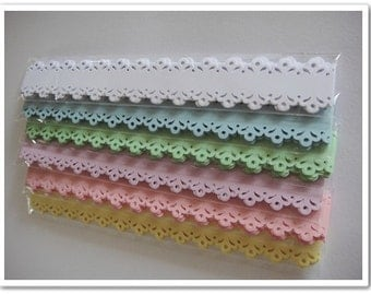 50 pcs Die Cut Lace Trim
