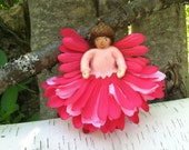 Pink flower fairy doll