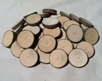 "50 Maple wood slices 1.5"" - 1.75"""