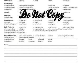 SOAP Notes Template