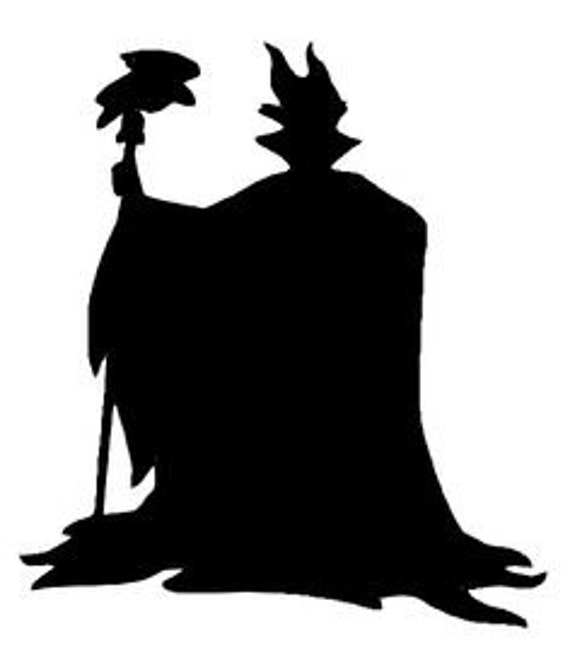 Maleficent Evil Queen Silhouette Decal by NerdVinyl on Etsy