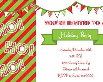 Ho! Ho! Ho! Party Invitation