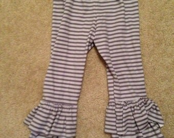 Boutique Quality Handmade Super Soft Ruffled Leggings Size 6 Months to 4T
