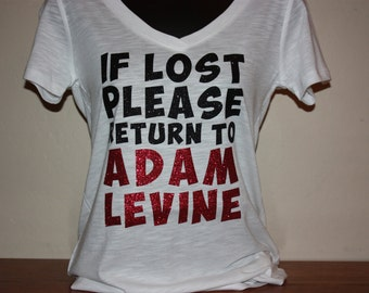 Women's If Lost Please Return to Adam Levine Glitter Shirt