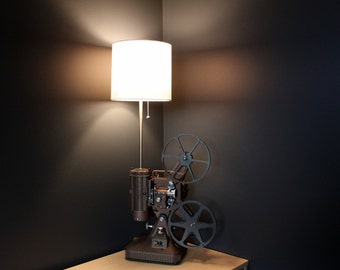 Home Theater Decor - Early Brown K108 Movie Projector Table Lamp