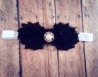 Black Headband, Baby Black Headband, Newborn Headband, Baby Headband
