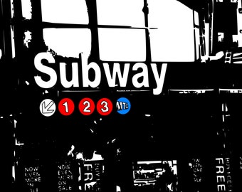 PRINT of Subway Station - 8x10 PRINT