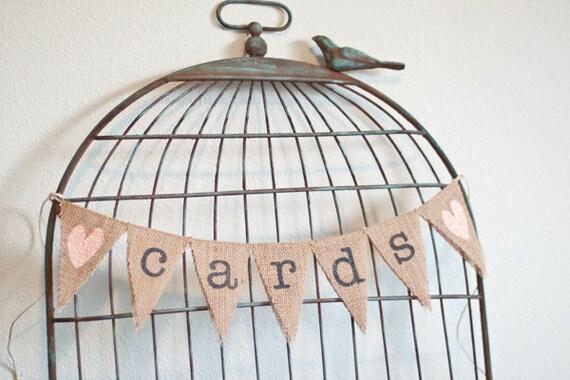 Items Similar To Cards Burlap Wedding Banner Wedding Banner Cards Bunting Custom Color