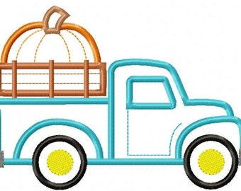 Pumpkin Truck Machine Applique Design