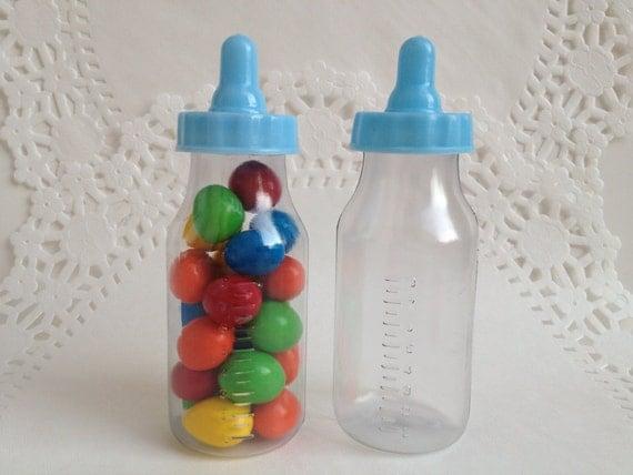 48 4 5 blue baby bottles for diy baby shower or gender for Baby bottles for decoration