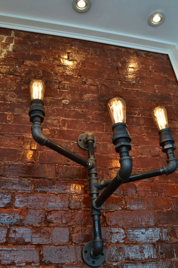 Triple Industrial Pipe Adjustable Wall Light Wall Light