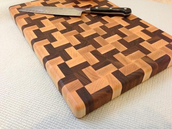 Handmade Butcher Block Cross Design End-grain Cutting Board