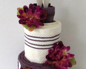 Kitchen Towel Cake | Bridal Shower Gift | Mothers Day gift | Housewarming Gift | Wedding Towel Cake | Just Because Gift | Hostess Gift