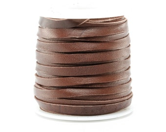 3/16 Inch 5MM Spool of Chocolate Brown Deerskin Leather Lace 50ft