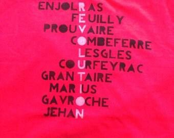 Les Miserables, Revolution, Enjolras, Marius, ABC Cafe, Shirt