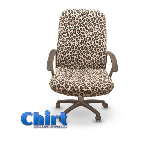 Leopard Print Chirt Office Chair Cover