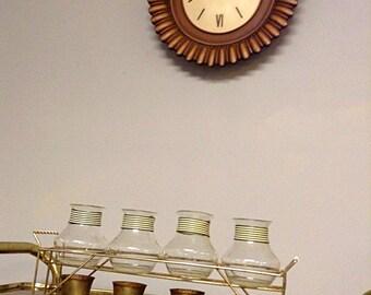 Vintage MCM 1960's/70's Syroco Clock