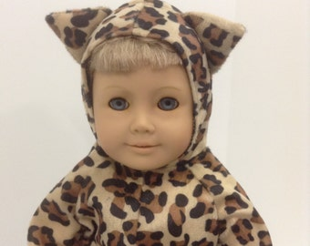"""Cheetah Costume - Fits 18"""" American Girl Doll and all other 18"""" Dolls"""