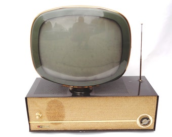 Original Philco Predicta 1950s swivel screen vintage television set.   The iconic mid century TV