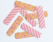 Washi Bandages - Pink, Stripes, Flowers, Get Well, Kids, Accessories, Gift Idea, Handmade, Party Favor, Bridal Kit, Birthday