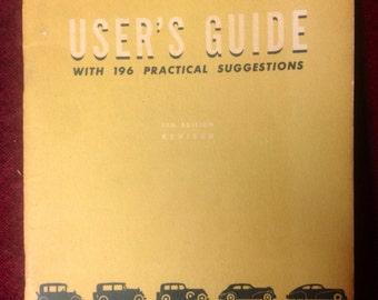 "Vintage Auto Manual - 1940s - "" Post War Edition """