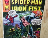Spider Man and Iron Fist Vintage Marvel Comic