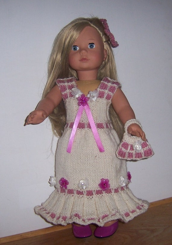 Knitting Patterns For Our Generation Dolls : Evening Ensemble, dolls clothes PDF knitting pattern for ...
