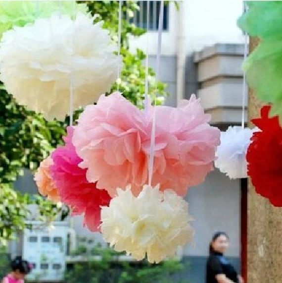 Disco Ball Decorations Cheap: Items Similar To 50pcs 12inch Tissue Paper Ball Wedding