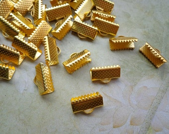 100 pcs 13mm Gold  Plated   Fasteners Clasps