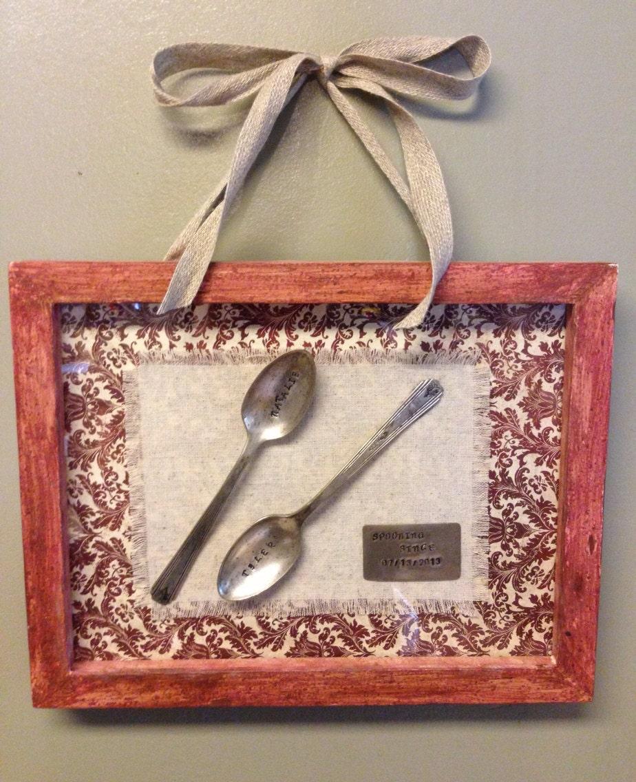 Personalised Wedding Gifts Vintage : Personalized wedding gift vintage silverware by NprintSJewelry