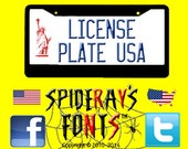 LICENSE PLATE USA Commercial Font