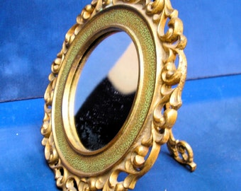 VICTORIAN GILDED MIRROR – Iron Easel Mirror