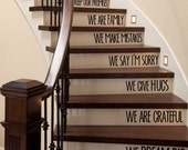 In This Home We Love - Stairs Decal - ScriptumInMuris