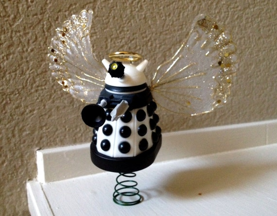 Items Similar To White Angel Dalek Christmas Tree Topper