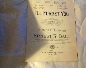 """Antique 1921 Sheet Music """"I'll Forget You"""""""