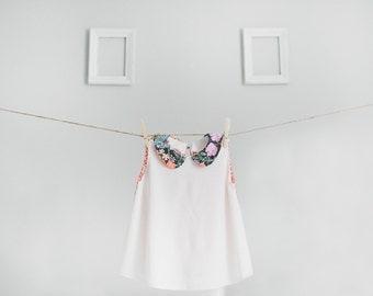 Sleeveless peter pan collar top two pattern shirt floral for Peter pan shirt pattern