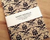 Damask Black Ink Notebook KV2001