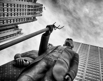 American Gothic, Chicago, Michigan Avenue, Perspective, Travel Photography,