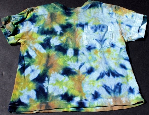 tie dye 2t t shirt upcycled fish scale hippie summer 70s