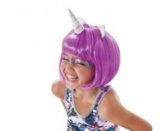 Unicorn Costume Child Kid Purple Wig Unicorn Horn My Little Pony Cosplay Children Custom