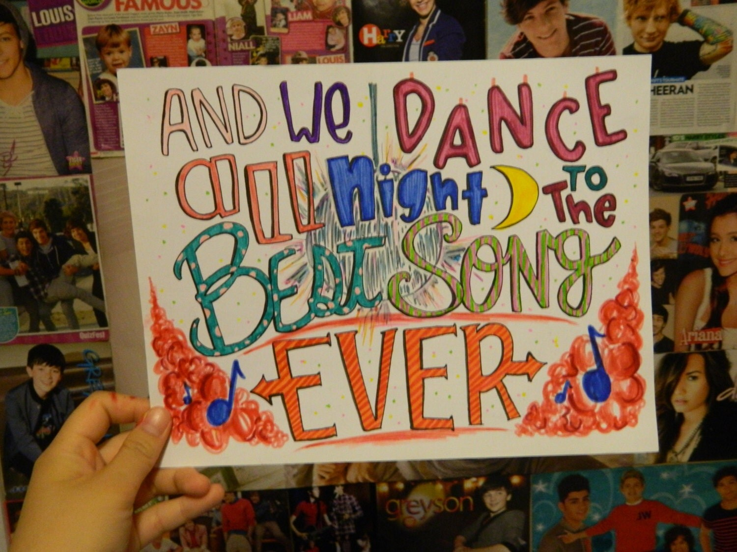 One Direction Song Lyric Drawings Best Song Ever One Direction