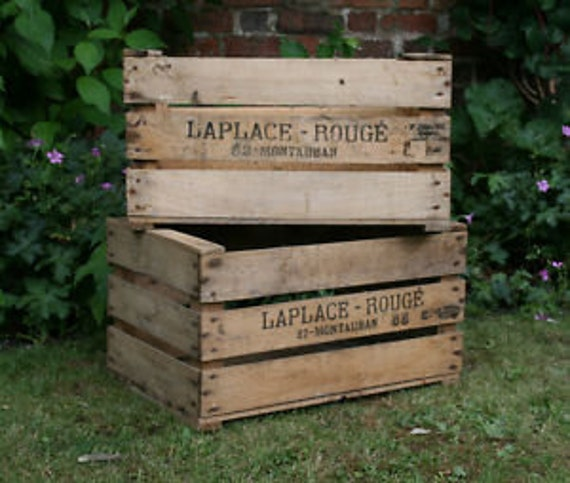VINTAGE PRE WAR apple bushel fruit box crate1920s