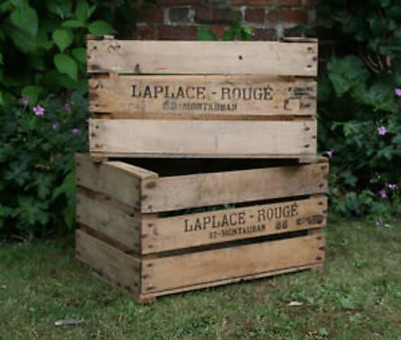 VINTAGE PRE WAR apple bushel fruit box crate1920s